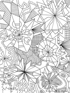 Geometric Coloring Pages | Doodle Art; great graphic ideas