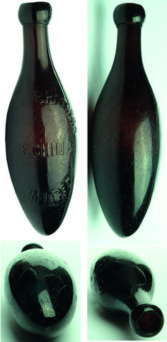 tx for sharing abcrauctions.com : Dakin Brothers / of China / Limited. No glass makers marks. Type: Aerated Water Torpedo Variety: Applied top. Dark Amber. 10 oz. Era: 1890s Height: 228 mm