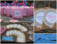 Bachelorette Survival Kits! They can be fun stuff for the nights theme or morning after goodies! Cool!
