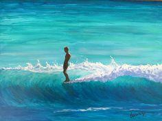 Acrylic on canvas by Newport Loft Surf Art Surfboard Painting, Surfboard Art, Hawaii Surf, Paint Photography, Surfing Pictures, Outdoor Art, Community Art, Photo Art, Cool Art