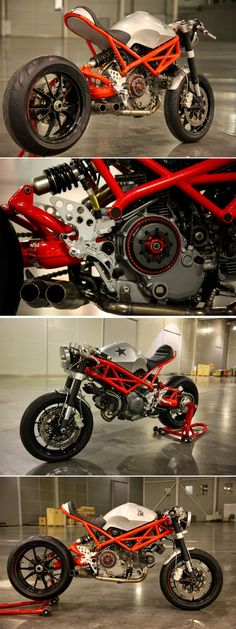 """Ducati Cafe Racer """"Rat Army"""" 1100 EVO by GRHV http://www.caferacerpasion.com/fotos-de-motos-cafe-racer-bobber-custom-y-cultura-motera/"""