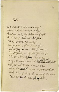 """Manuscript of Elizabeth Barrett Browning's famous """"How Do I Love Thee"""" Sonnet 1850 How do I love thee? Let me count the ways. Hermann Hesse, Fierce Quotes, Elizabeth Barrett Browning, Literary Genre, Ps I Love, Win My Heart, Love Days, Book Writer, Write It Down"""