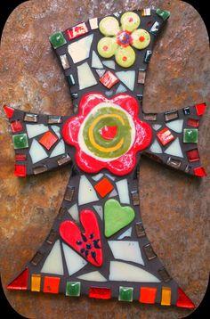 Mosaic cross by PrayingMantis MosaicMagik