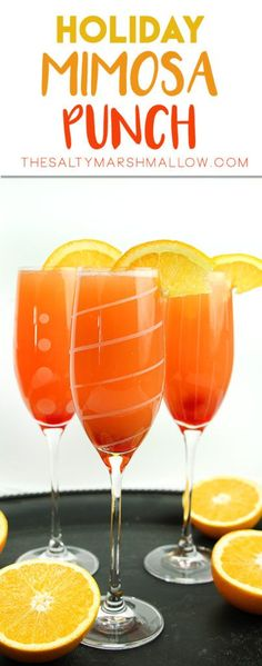 Easy and festive mimosa punch is perfect for brunch!