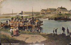 Trent Bridge Ferry, Nottingham, circa 1918.