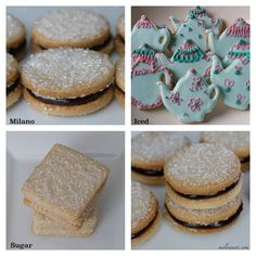 one recipe, 3 cookies: sugar, iced and milano