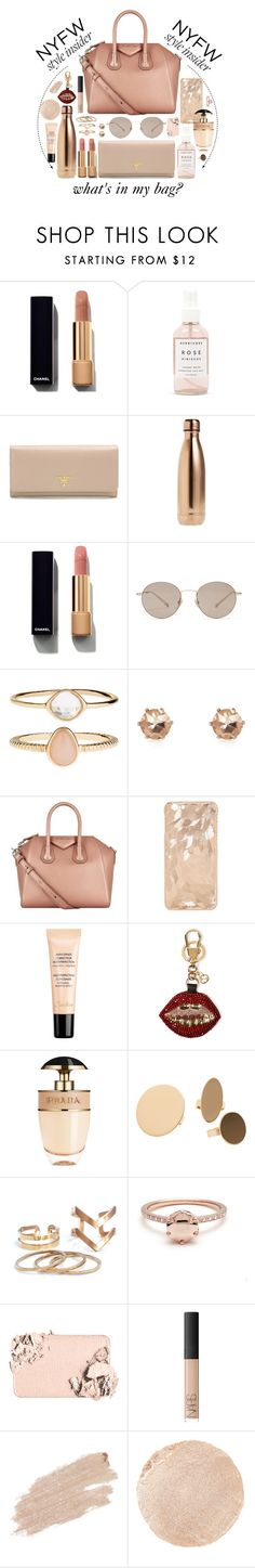 """""""#NYFW Style Insider"""" by seventeene ❤ liked on Polyvore featuring Chanel, Herbivore, Prada, S'well, Gucci, Accessorize, Givenchy, Guerlain, MANGO and Too Faced Cosmetics"""
