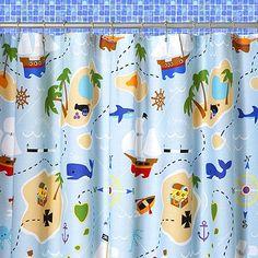 Amazon.com: Olive Kids Pirates Shower Curtain: Home & Kitchen