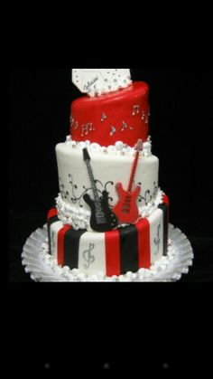 Rock wedding cake