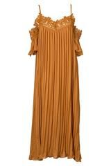 Cupshe Point Me at the Sky Pleated Maxi Dress - S
