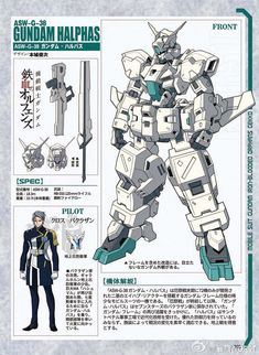 Fanart: ASW-G-38 Gundam Halphas - Gundam Kits Collection News and Reviews