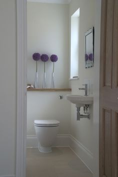 modern, organic, minimal half bath