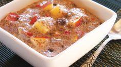 Spiced apple & goji berry breakfast chia