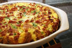 Prepare this Western breakfast casserole the night before and bake in the morning. It has all the flavor of a Western (or Denver) omelet or sandwich.