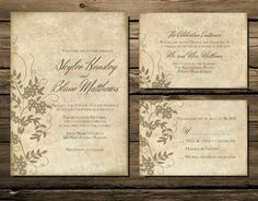 Printable Wedding Invitation Download Invite RSVP by ItsCalledLove, $27.00
