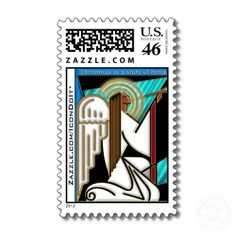 Christmas State of Mind Stamps - This smashing Art Deco / Harlem Renaissance inspired Herald Angel designed by IconDoIt, is now available on authentic U.S. Postage Stamps! See all gifts w/ this image @ www.zazzle.com/icondoit+harlem+gifts?rf=238155573613991097&tc=pnt #christmaspostage #artdecochristmas