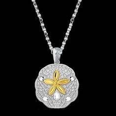 For Everything Genealogy - Sand Dollar Starfish Marine Yellow Gold Accent Sterling Silver Pendant, $220.00 (http://www.foreverythinggenealogy.com.au/sand-dollar-starfish-marine-yellow-gold-accent-sterling-silver-pendant/)