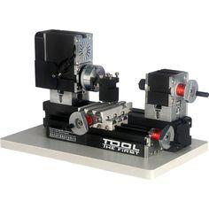 Foto 1 - Micro Mini Torno De Metal Bancada - The First Tool - 60w, 12000rpm Motor Big Power - Tz20002mg
