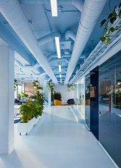 Kvistad were engaged by digital studio, Bakken & Bæck, to design their offices located in Oslo, Norway. Norwegian design studio Kvistad recently Best Office, Cool Office, Design Ppt, Design Case, Corporate Interiors, Office Interiors, Office Ceiling, Spaceship Interior, Office Interior Design