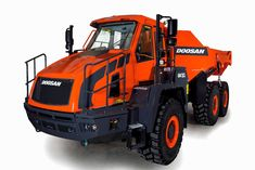 At Intermat Doosan Construction Equipment will be presenting a new version of the company's 30 tonne class Articulated Dump Truck. Dump Trucks, Lifted Trucks, Truck Mounted Crane, Snow Plow, Heavy Machinery, Sale Promotion, Heavy Equipment, Tractors, Construction
