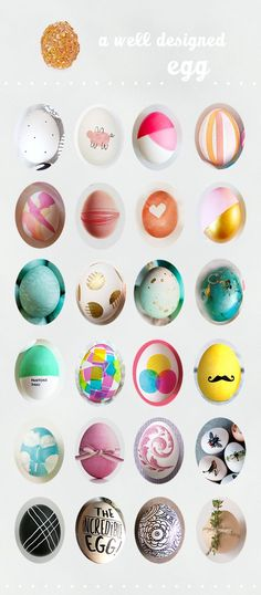 beautiful #diy dyed easter eggs | A Subtle Revelry