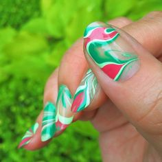 """Just Some Things I Like — Kit on Instagram: """"Watermelon tie-die nail art...."""