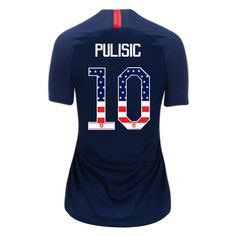0ceab6129 18 19 Women s Christian Pulisic Away USA Jersey Independence Day Soccer  City