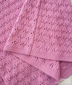 Bouquet lace knitting stitch chart.
