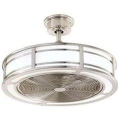 $279 Brette 23 in. LED Indoor/Outdoor Brushed Nickel Ceiling Fan