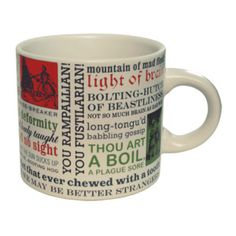 Shakespearean Insult Mug, $12.95, now featured on Fab.