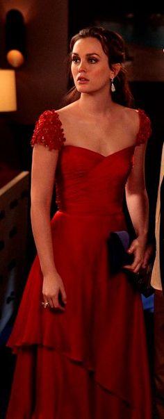 nice red dress Blair !