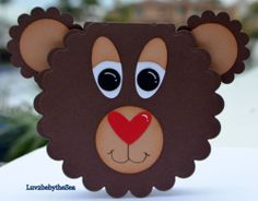 Handmade Sweet Little Bear Face Card for Kids Valentine Birthday Get Well More | eBay