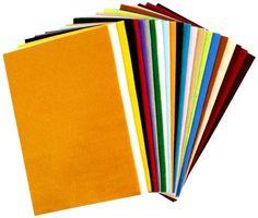 Filz 24 Stk. verschiedene Farben, 20x30 cm