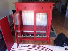 IKEA hemnes in red. Like it a lot.