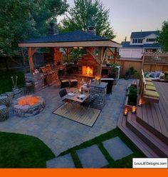 McAravey Property - Outdoor Living just steps from the inside . - McAravey Property – Outdoor Living just steps from the inside … - Gazebos, Outdoor Rooms, Outdoor Decor, Outdoor Living Patios, Outdoor Ideas, Outdoor Lighting, Outdoor Furniture, Casas Containers, Backyard Patio Designs
