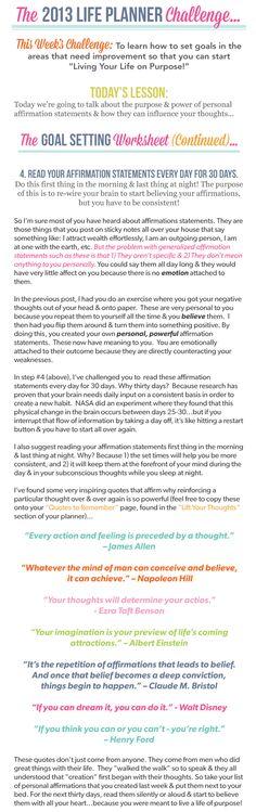01/30/2013-2013 LIFE PLANNER CHALLENGE 5: GOAL SETTING WORKSHEET PART 2