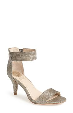 These Vince Camuto sandals are sparkly and comfortable.