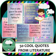 50 Great Quotes from Literature- Display Posters Secondary