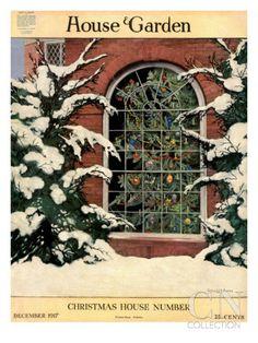 House & Garden Cover - December 1917 Regular Giclee Print