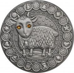 Srebrna Moneta - Koziorożec, 20 rubli, Seria: Znaki zodiaku