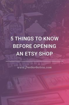5 Things to Know Before Opening an Etsy Shop #soapmakingbusinessetsy