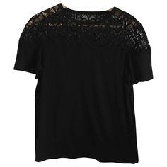 SANDRO FALL WINTER 2019 BLACK COTTON  TOP. #sandro #cloth Modern Outfits, Sandro, Black Cotton, Parisian, Ready To Wear, Fall Winter, Feminine, Chic, Elegant