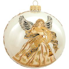 Angel With Horn Glass Floral Ornament from Bronner's Christmas store of Christmas ornaments and Christmas lights Nativity Ornaments, Christmas Ornaments To Make, Angel Ornaments, Christmas Angels, Ornaments Ideas, Ball Ornaments, Christmas Balls, Holiday Crafts For Kids, Crafts For Kids To Make