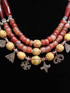 Featured in the Mornings in Morroco treasury curated by BeadyEyedBird on Etsy.com  Antique Carnelian & African Trade Bead Necklace by GEMILAJewels, $480.00