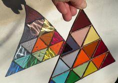 Stained Glass Rainbow triangle por ravenglassgirl en Etsy