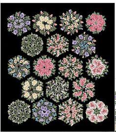 Northcott Fabrics Botanica Triangle Frenzy Bouquet Quilt Kit