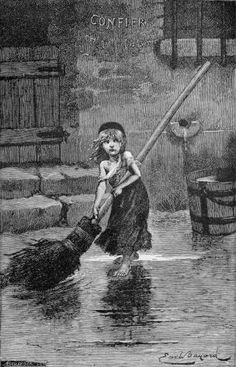 """Les Miserables, the book written by Victor Hugo, was published in December of Portrait of """"Cosette"""" by Emile Bayard , from the ori. I Love Books, Great Books, Books To Read, Les Miserables Book, Cosette Les Miserables, Sightseeing London, Les Miserables Victor Hugo, Jean Valjean, Jane Seymour"""