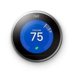 Discounted Nest Learning Thermostat 3rd Generation, Stainless Steel, Works with Amazon Alexa