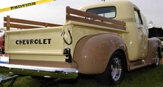 1952 Chevy 3/4 ton pick up truck.
