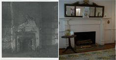 Before and after restoration of the MTL's bedroom at the Mary Todd Lincoln House in Lexington, KY